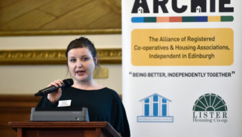 Photo of Councillor Katie Campbell speaking at ARCHIE launch.