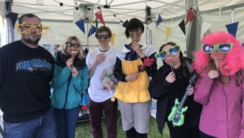 Photo of PoLHA staff dressed up at Gala Day.