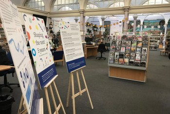 Photo of our pop-up consultation in McDonald Road Library.