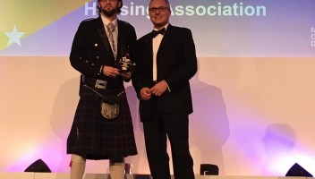Photo of John Murray accepting our award.
