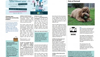 Photo of inside spread of Portcall.l